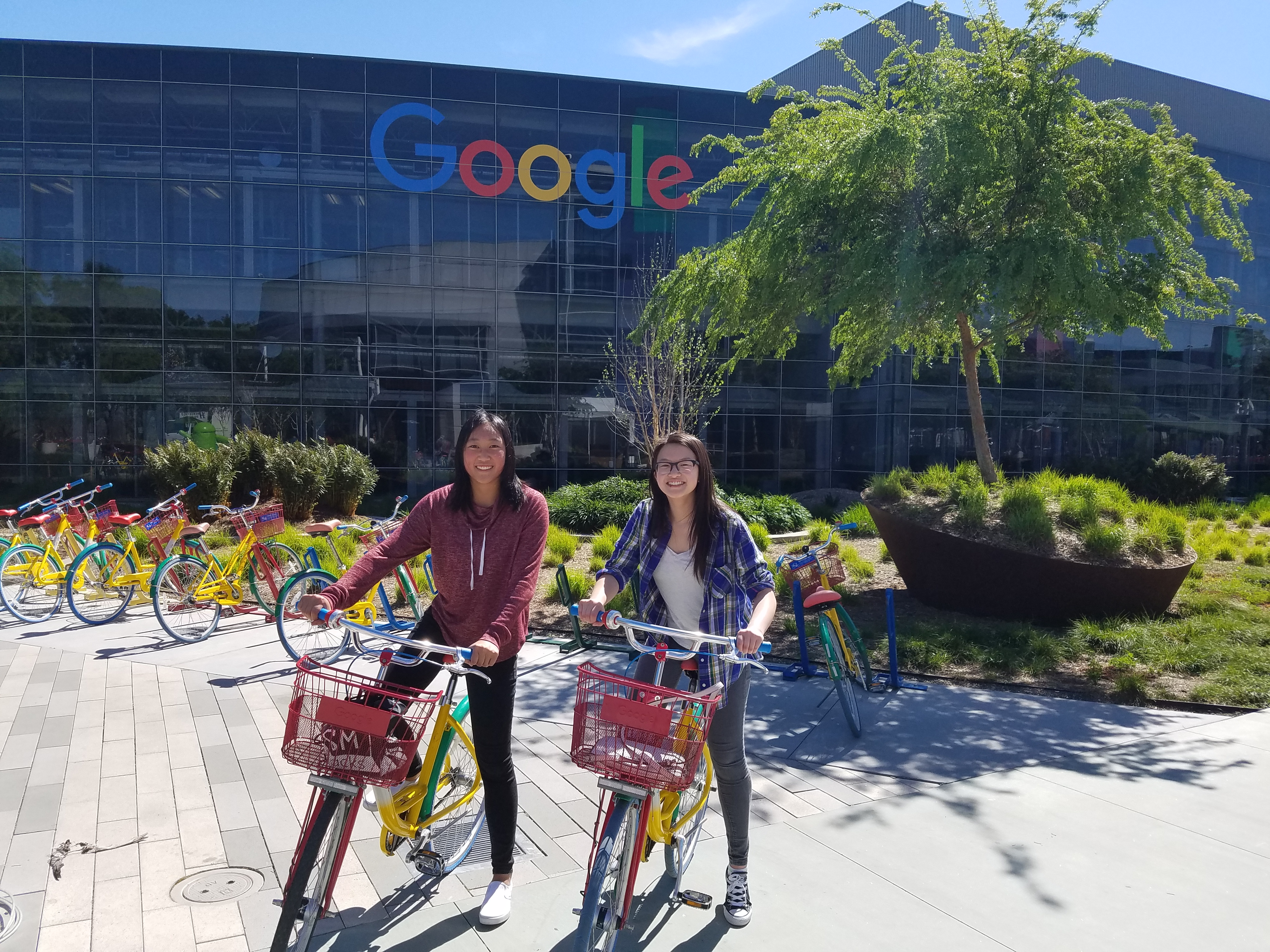 picture of friend and me at google hq